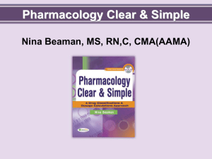 Clear and Simple Pharmacology