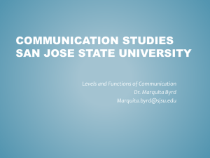 Communication 110 Interpersonal