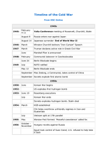 HSC Online Timeline of the Cold War
