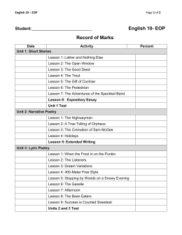 English 10 Record of Marks