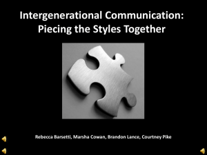 Intergenerational Communication: Piecing the