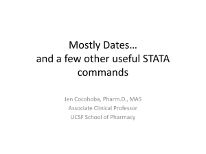 Dates, Loops, and Other (Little) Useful STATA commands