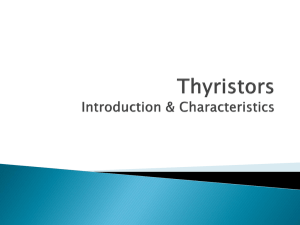 Thyristors Introduction & Characteristics