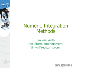 Numeric Integration Methods - Essential Math for Games Programmers