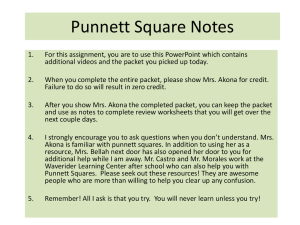 Punnett Square Notes