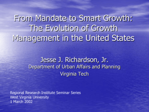 From Mandate to Smart Growth: The Evolution of Growth