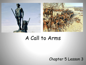 A Call to Arms powerpoint