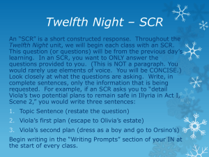 Twelfth Night * SCR