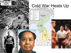 Cold War Heats Up Powerpoint