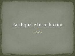 Earthquake Introduction