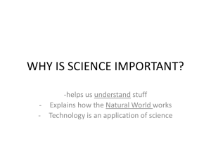 why is science important?