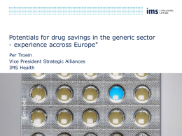 Potentials for drug savings in the generic sector