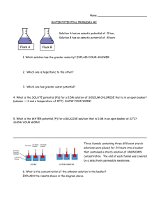 Water potential problems #2