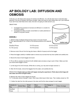 ap bio osmosis diffusion lab This laboratory exercise is presented as an alternative to the traditional ap diffusion and osmosis lab i always felt the official lab skimped in some spots (like.