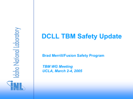 TBM Safety Update