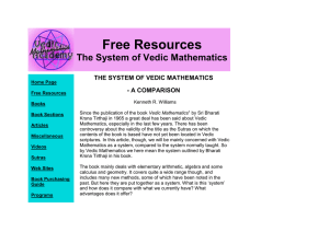 the system of vedic mathematics - a comparison