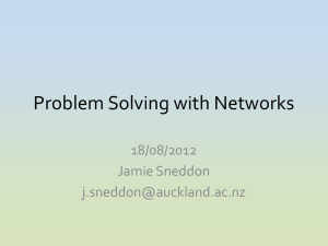 Networks Powerpoint - Auckland Mathematical Association