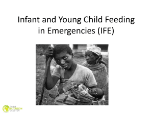 Module 17: Infant and Young Child Feeding