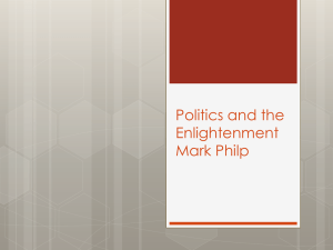 Politics and the Enlightenment Mark Philp