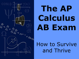 The AP Calculus AB Exam - Saint Joseph High School