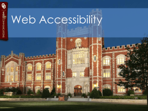 Web Accessibility Tips and Tricks Powerpoint