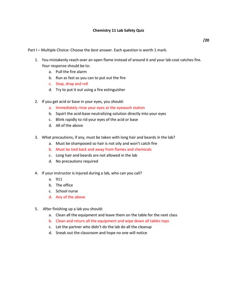 30++ Lab safety scenarios worksheet answer key Online