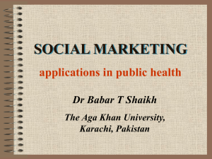 SOCIAL MARKETING applications in public health