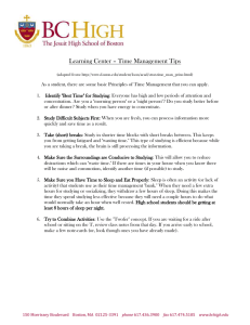 Time Management Worksheet - Boston College High School