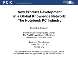 New Product Development in a Global Knowledge Network