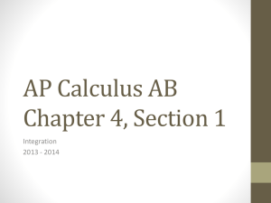 AP Calculus AB Chapter 4, Section 1