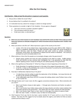 v for vendetta reaction paper
