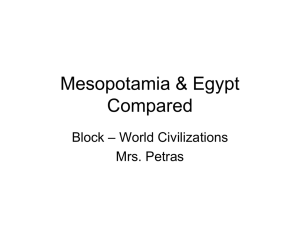 Comparative PowerPoint Mesopotamia and Egypt