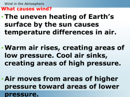 What are examples of global winds?