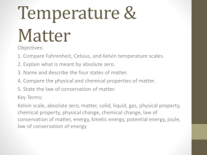 Temperature & Matter - Santa Susana High School