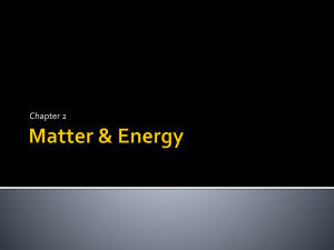 Matter & Energy - Ms Brown's Chemistry Page