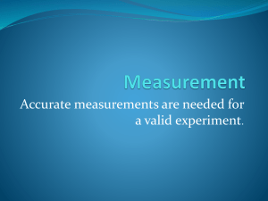 Measurement and Math Notes