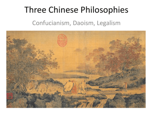 Chinese philosophies PPT