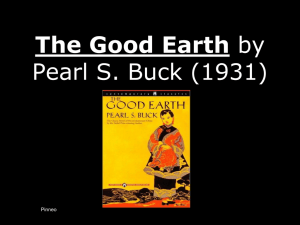 The Good Earth by Pearl S. Buck (1931)