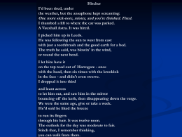 Hitcher By Simon Armitage - St Cuthbert Mayne GCSE English