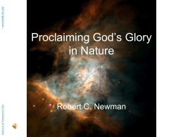 Proclaiming God's Glory in Nature