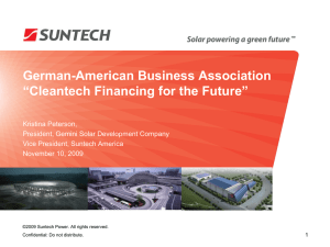 Introduction to Suntech