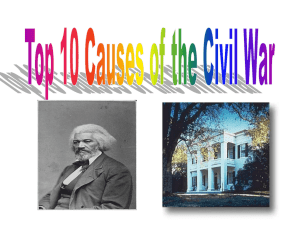 top 10 causes of the civil war