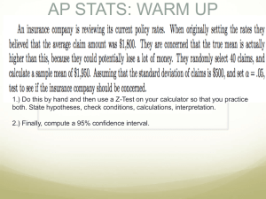 AP STATS: WARM UP