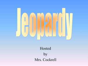 Speech Ch_ 11 Jeopardy