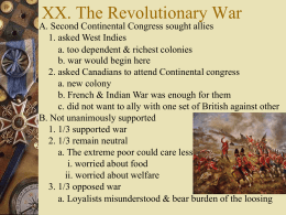 Revolutionary War - Cal State LA