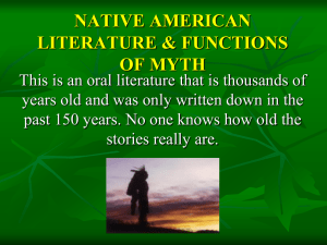 native american literature & functions of myth