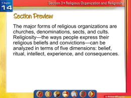 Religious Organization and Religiosity