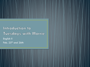Introduction to Tuesdays with Morrie