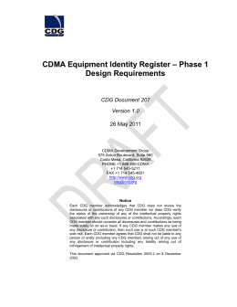 CDMA Equipment Identity Register