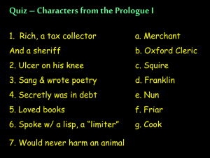 Quiz – Characters from the Prologue I